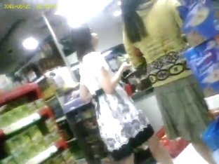 boso voyeur teen upskirt girl on convenient store