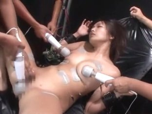 Horny Japanese chick Miwako Yamamoto in Best BDSM JAV video