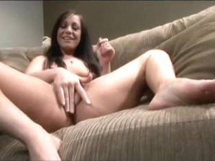 Naughty brunette mom shows off her splendid body and fucks a big dildo