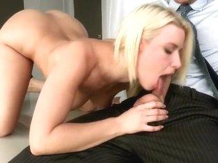 Bootylicious blonde Annika Albrite sucks Johnny Sins