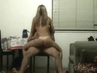 Hidden cam caught delectable blonde in the kitchen fucking