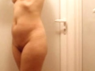Serbian lady touching herself