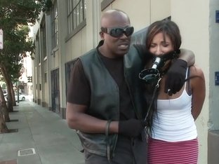 Lexington Steele Drags His New Whore to an Interracial Fuck Fest