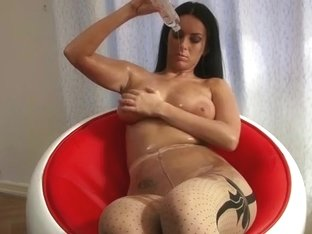 Oily large titties and oily hose