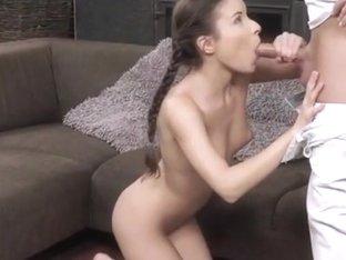 Teen Anita Berlusconi Gets Fingered And Sucks A Big Cock
