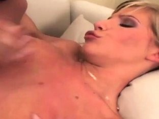 Tiffany Rousso starts to titty fuck a cock before it fills her tight twat!