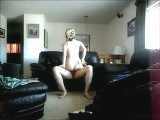 Blonde with tubesocks gets eaten out and fucked on the sofa with ass cumshot