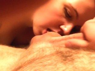 Amateur Redhead Ball Licking Blowjob