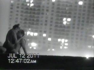 Voyeur tapes a couple having sex at the  beach
