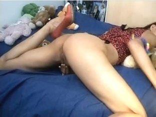 Webcam - Asian showing ass & fingering