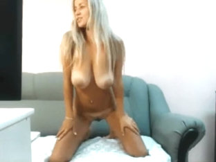 Sexy Finland BLonde naked striptease