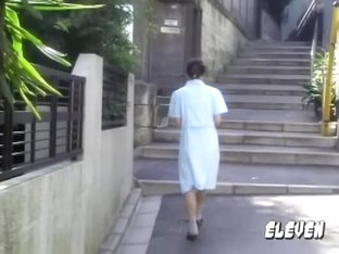 Pair of cute Japanese babes get involved in street sharking.
