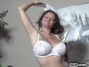 Busty mom June Summers gets fucked by a BBC