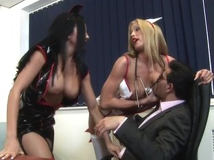 Horny pornstars Cassie Young and Audrey Bitoni in fabulous threesome, brazilian sex movie