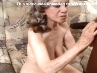 Granny Gigi Sucks Off The Black Plumber
