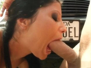 Seductive Clarissa exposes her superb body and enjoys a rough fucking