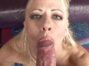 Blonde Holly Heart takes dildo up the ass and cock in mouth