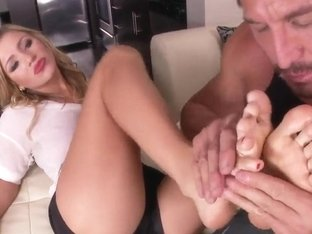 Hot feet fetish featuring sexy Cameron Dee