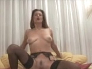 MILF jumping on a hard cock with her hot sweet pussy