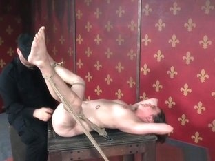Restrained Sub Whipped And Flogged By Dom