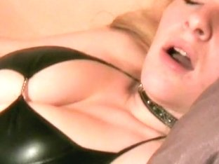 Amazing blonde playing with toys on webcam