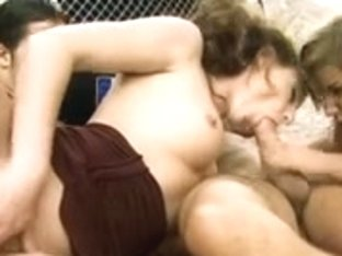 Lustful gals in double