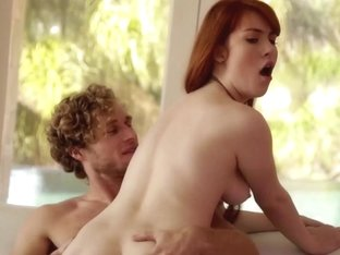 Redhead glamour babe cocksucking yoga teacher