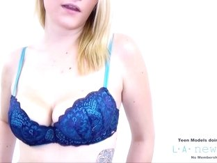 BLOND SWALLOWS CUM AT PHOTOSHOOT CASTING AUDITIONS