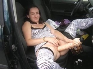 I stuck a huge dildo up my tight cunt