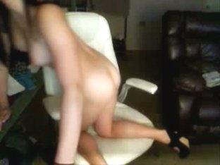 Hot Black Hair Teen Strips on Webcam