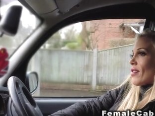 Huge tits female cab driver fucks customer