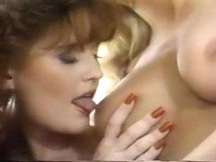Three lesbian girls suck boobs and pussy in threesome fun