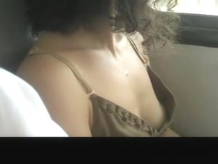 Down blouse shot in Train
