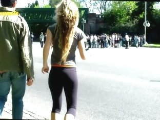 Fit girls showing off on the street in this non-nude voyeur video
