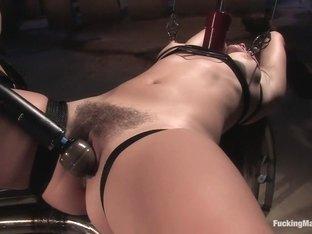 Amazing fetish adult movie with hottest pornstar Bobbi Starr from Fuckingmachines