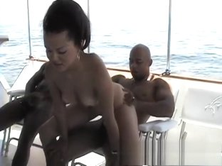 Horny Latina chows down on two cocks and gets nailed on a boat