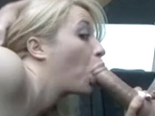 Busty golden-haired bonks friend for a ride