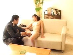 Boss fucking his secretary's wet cunt in japanese sex movie