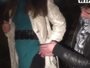 Young girl, named Natalie, pick uped in the night streets