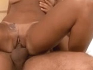 Hot hispanic bitch gets schlong group-fucked
