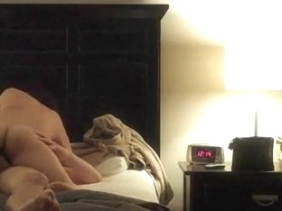 Amateur couple's morning sex recorded on hidden camera