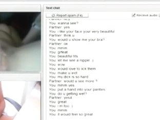 German girl has cybersex with a stranger on chat roulette