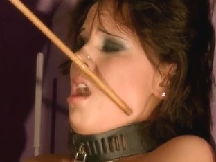 Tied up Melanie Memphis forced to suck cock