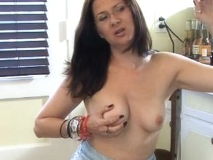 Brunette babe fingering her pussy while smoking