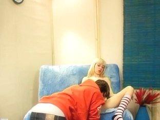 Incredible blonde teen enjoys a pussy eating fun