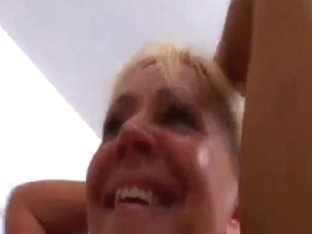 Brazilian Blond Aged Anal Casting