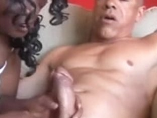 Breasty aged dark big beautiful woman likes to engulf schlong