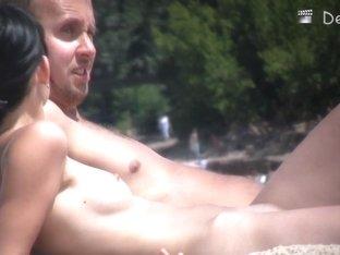 A beach voyeur video taken with a hidden camera