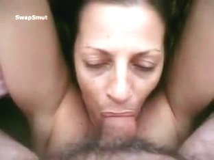 Great engulf nearly gags on large load of cum