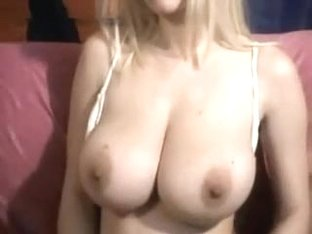 Golden-Haired gives a titty show